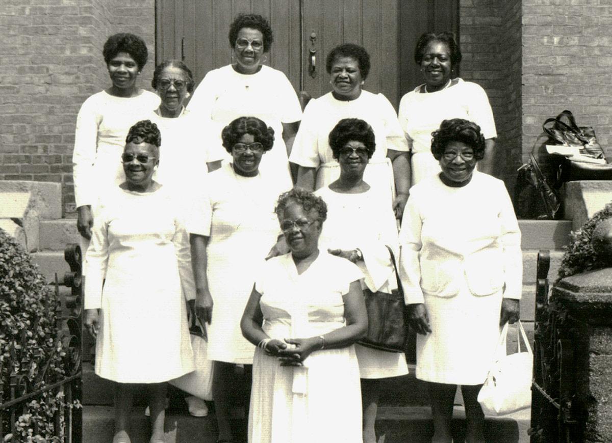 Congregants at the Shiloh Baptist Church in Hudson, NY