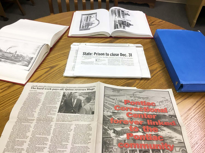 Pontiac Correctional Facility historical documents