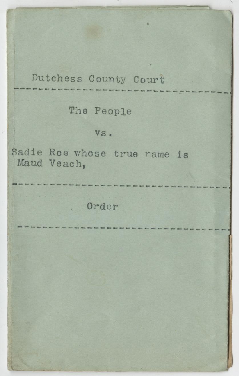 Maud Veach commitment record, Prison Public Memory Project