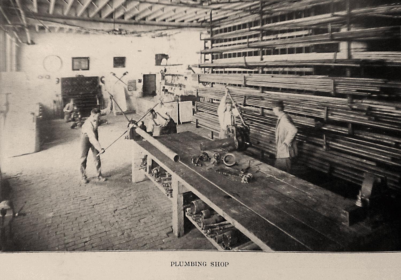 Plumbing shop, Illinois State Reformatory