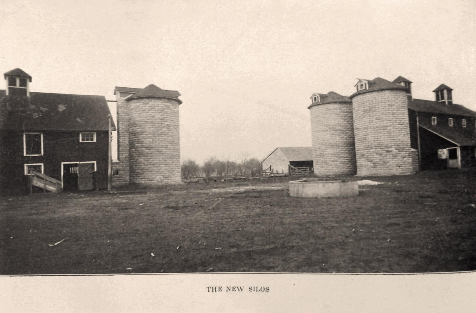 Silos at farm, Illinois State Reformatory