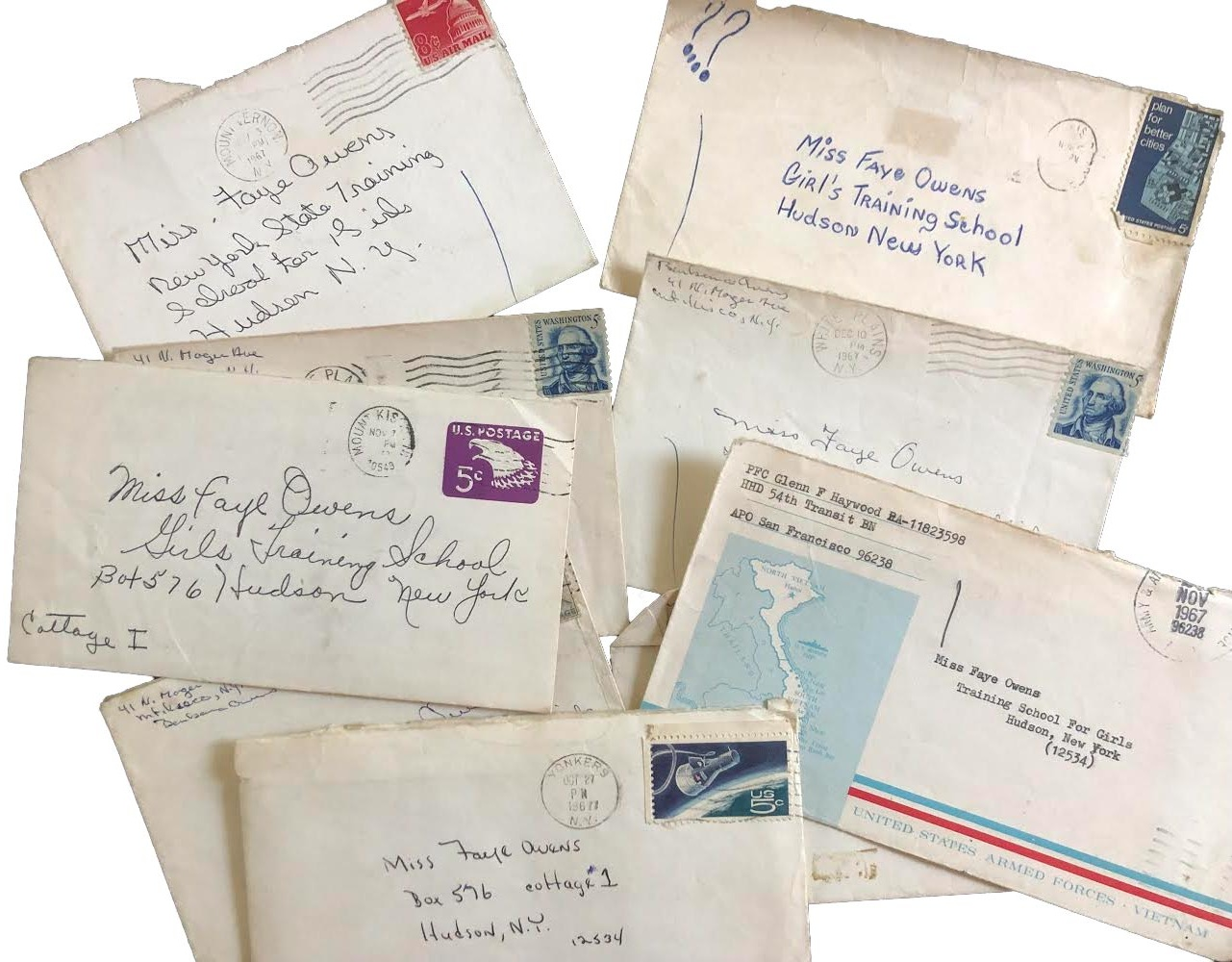 Letters sent to the NYS Training School for Girls in Hudson, NY