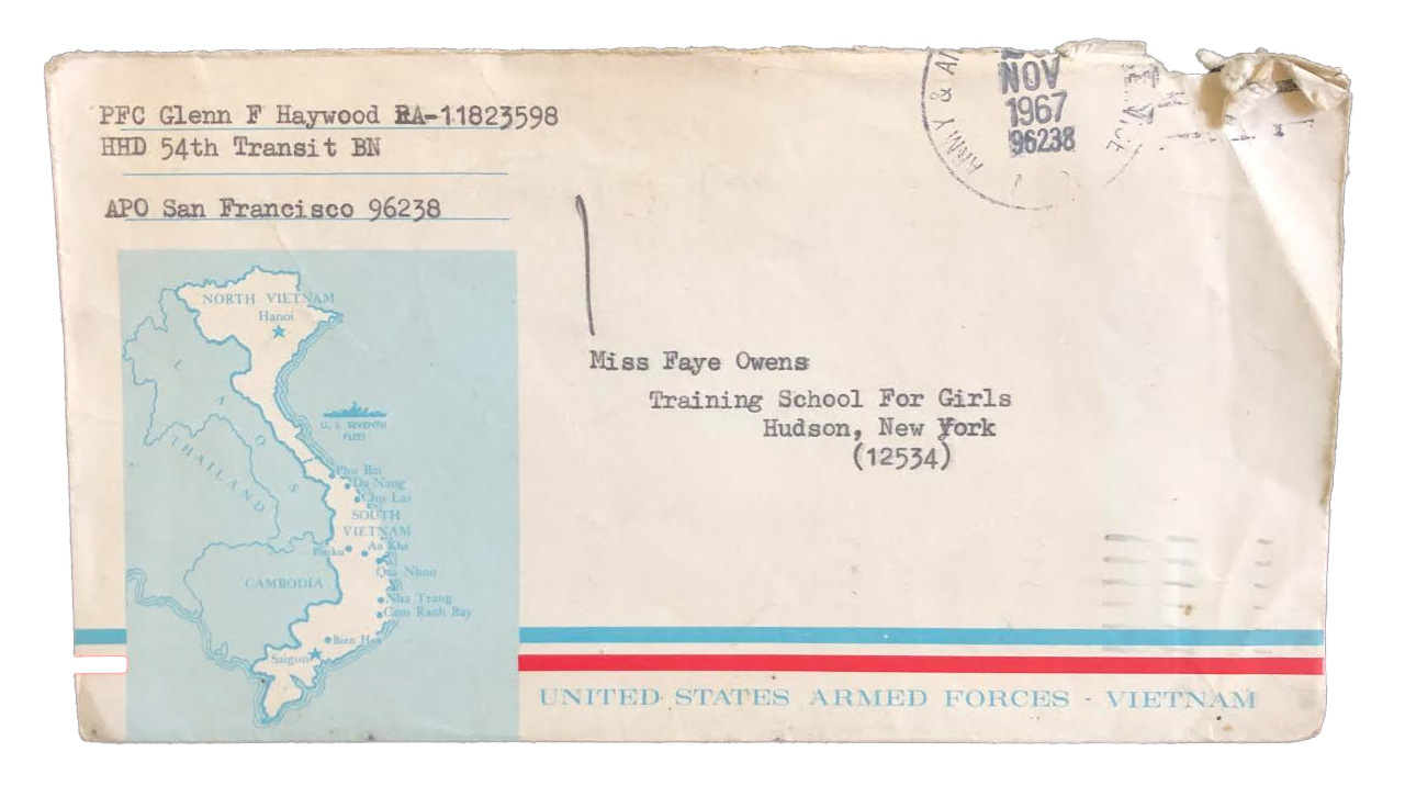 Letter addressed to Faye Owens when she was at the NYS Training School for Girls