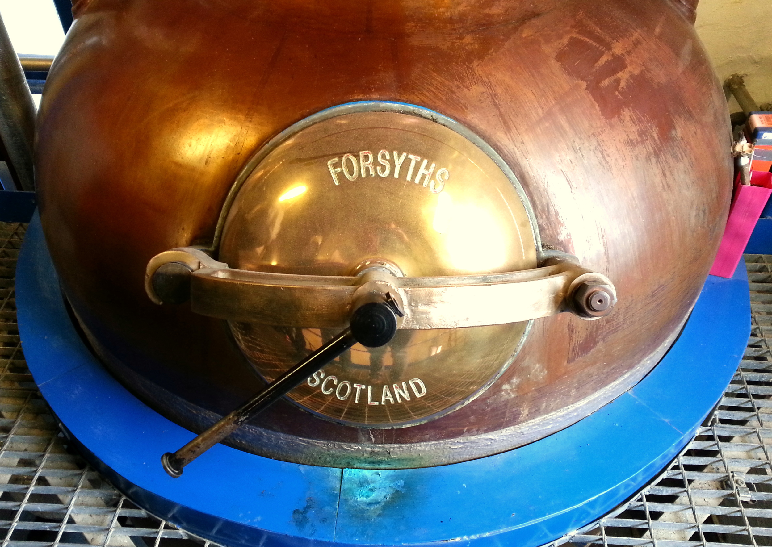 A still at Kilchoman Distillery. Islay, Scotland. 2014.