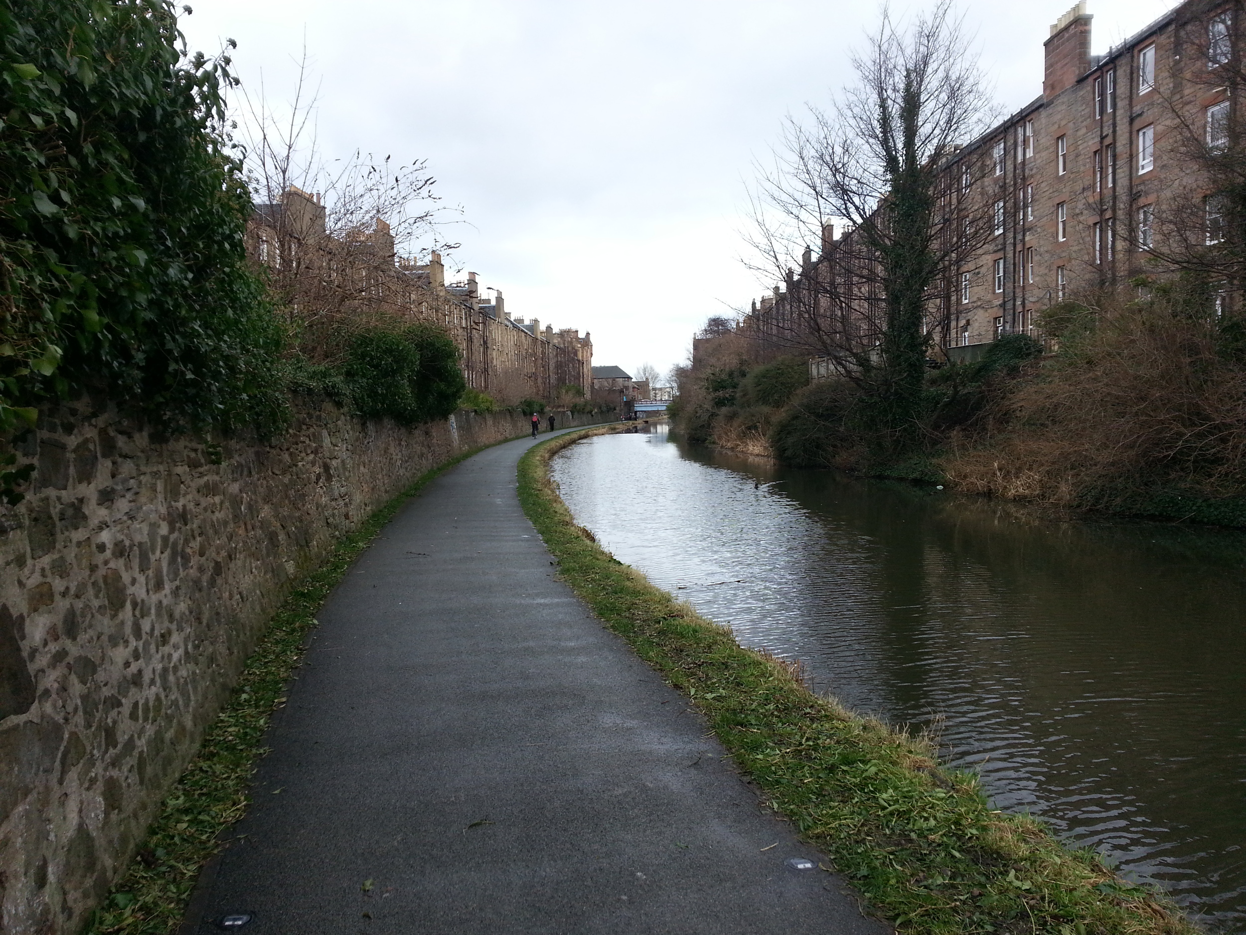 The Union Canal in Edinburgh, Scotland. 2014.
