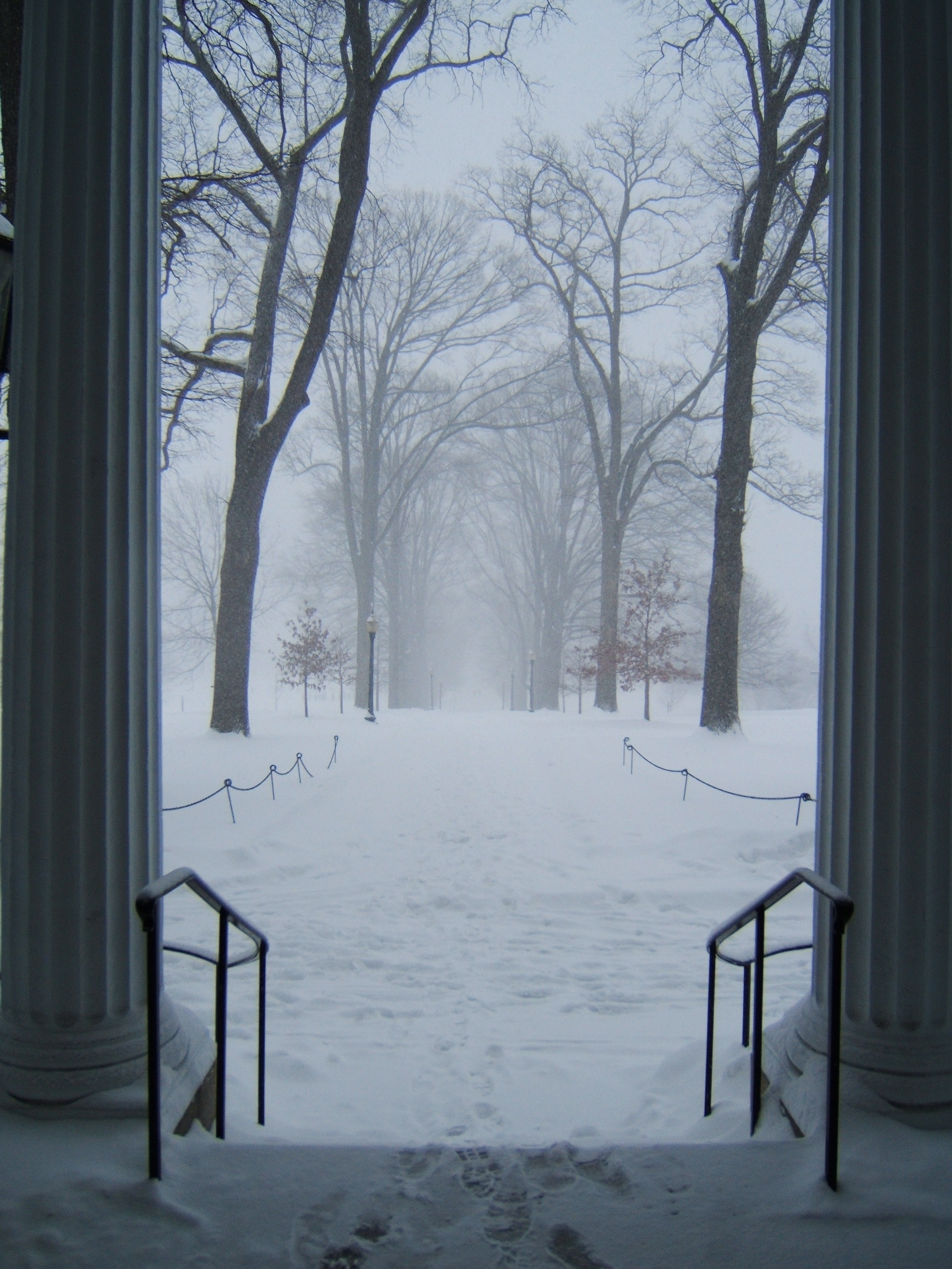 Parrish Walk in the snow. Swarthmore, Pennsylvania. 2005.