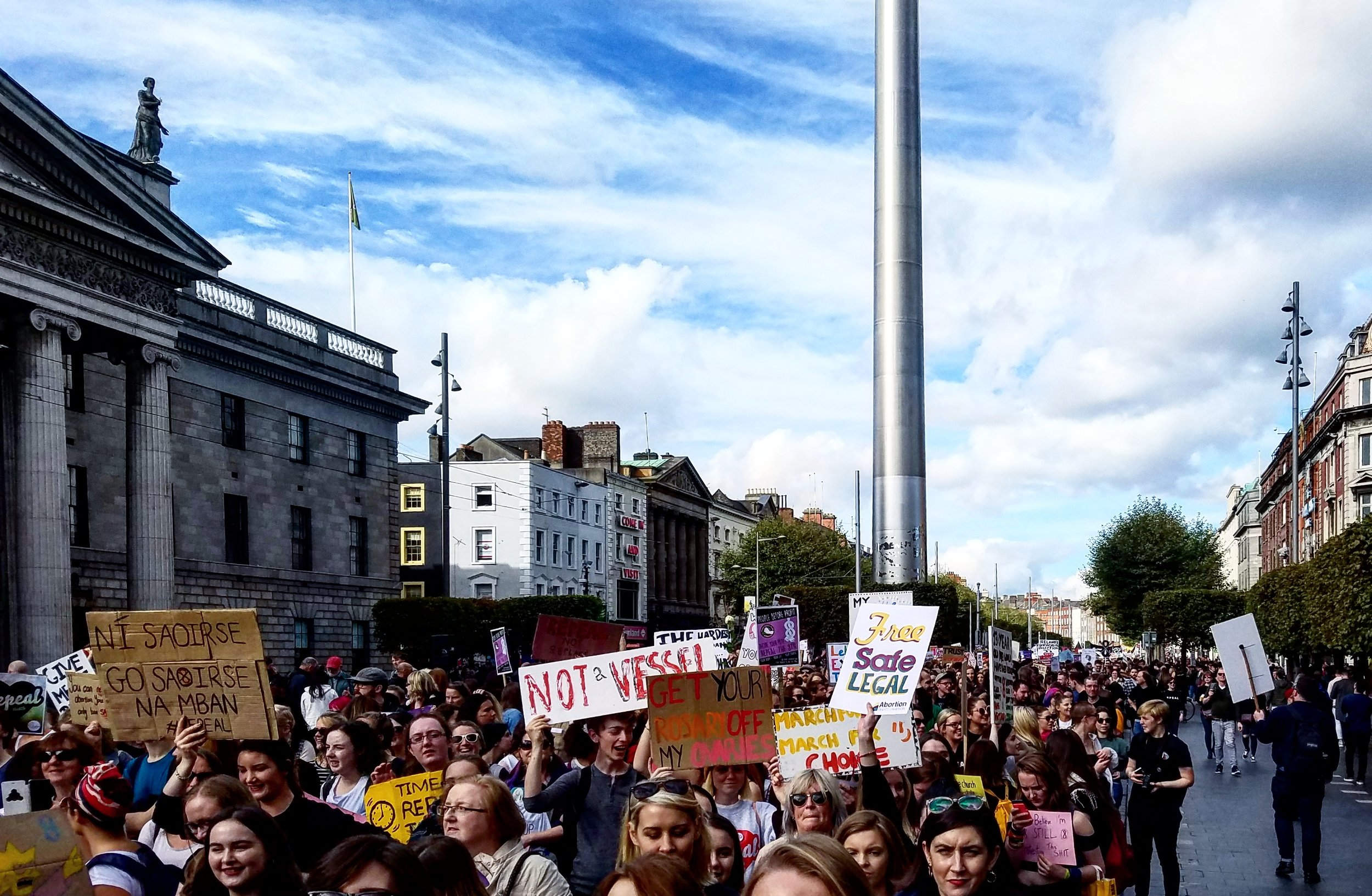 Marching for women's rights in Dublin. September 2017.