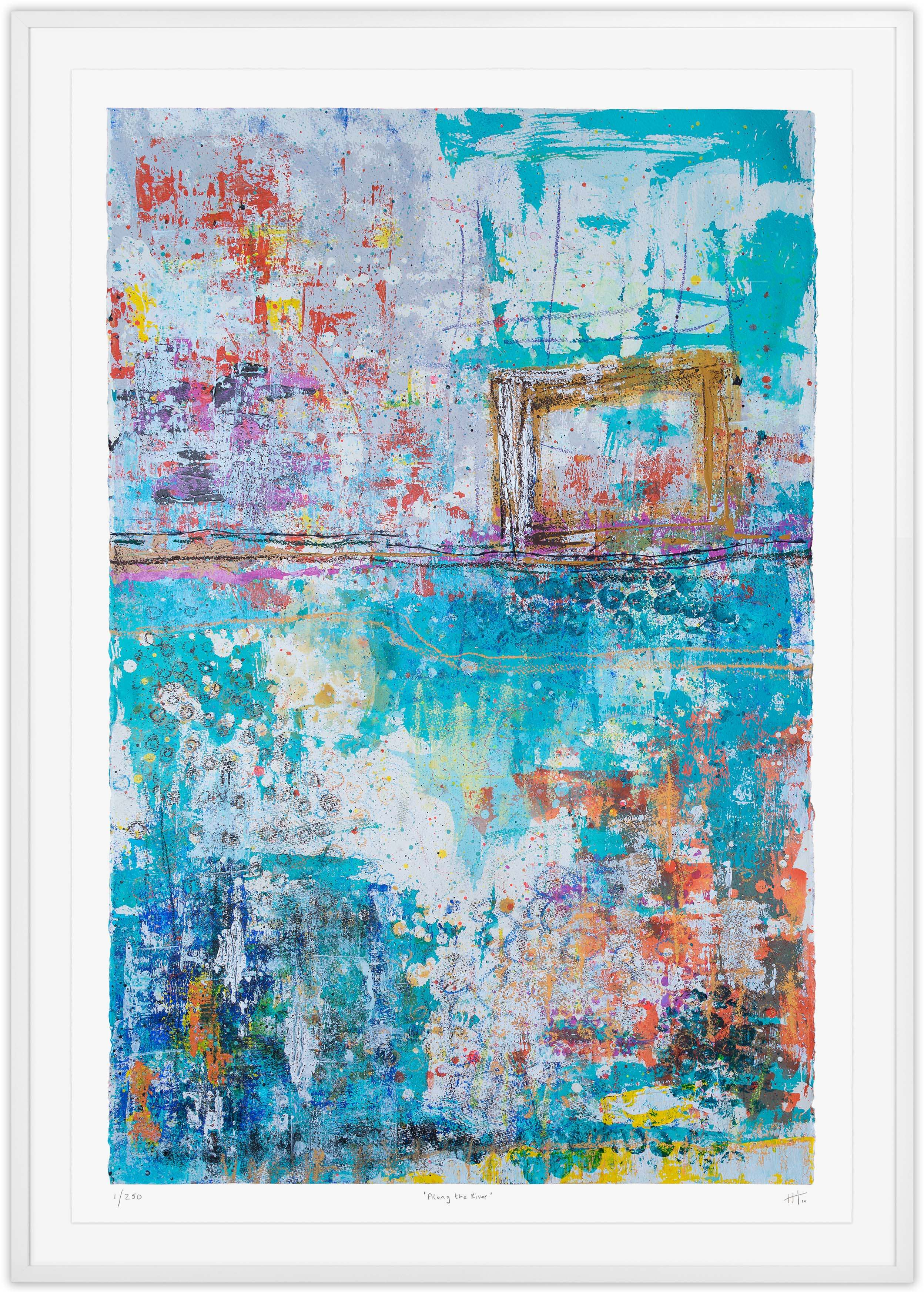 'Along the River' LIMITED EDITION GICLEE PRINT / Edition of 250 Size: 105cm x 76cm (framed)  £475 (includes frame) / £300 unframed  purchase via    contact form