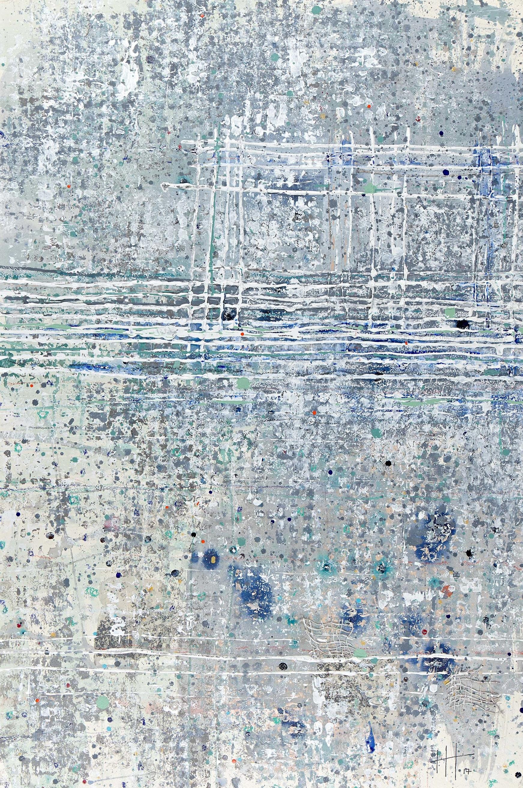 'Marshwood' Acrylic & Mixed Media / 119cm x 93cm (framed) SOLD