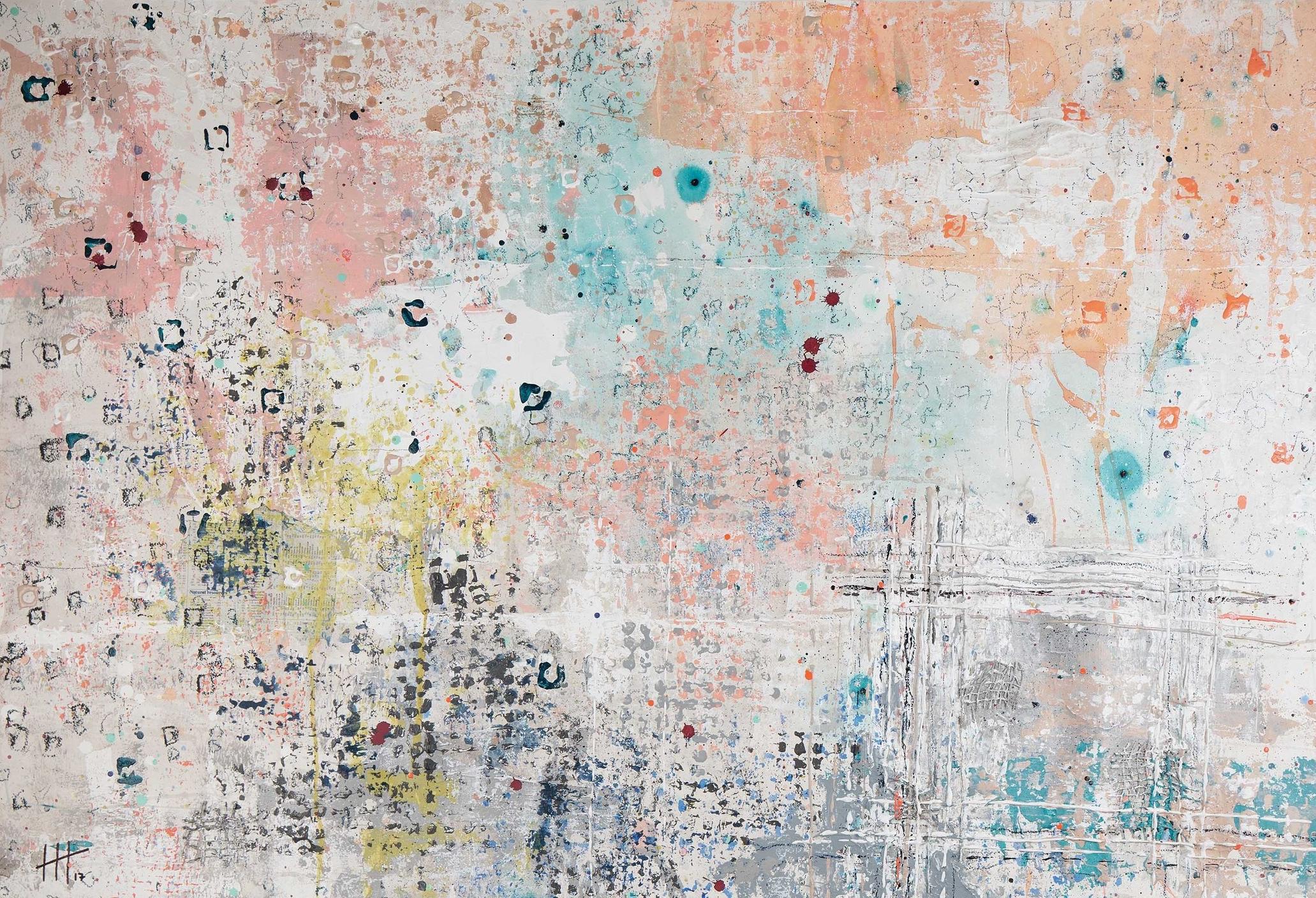 'A. Delis' Acrylic & Mixed Media / 101cm x 137cm (framed) SOLD
