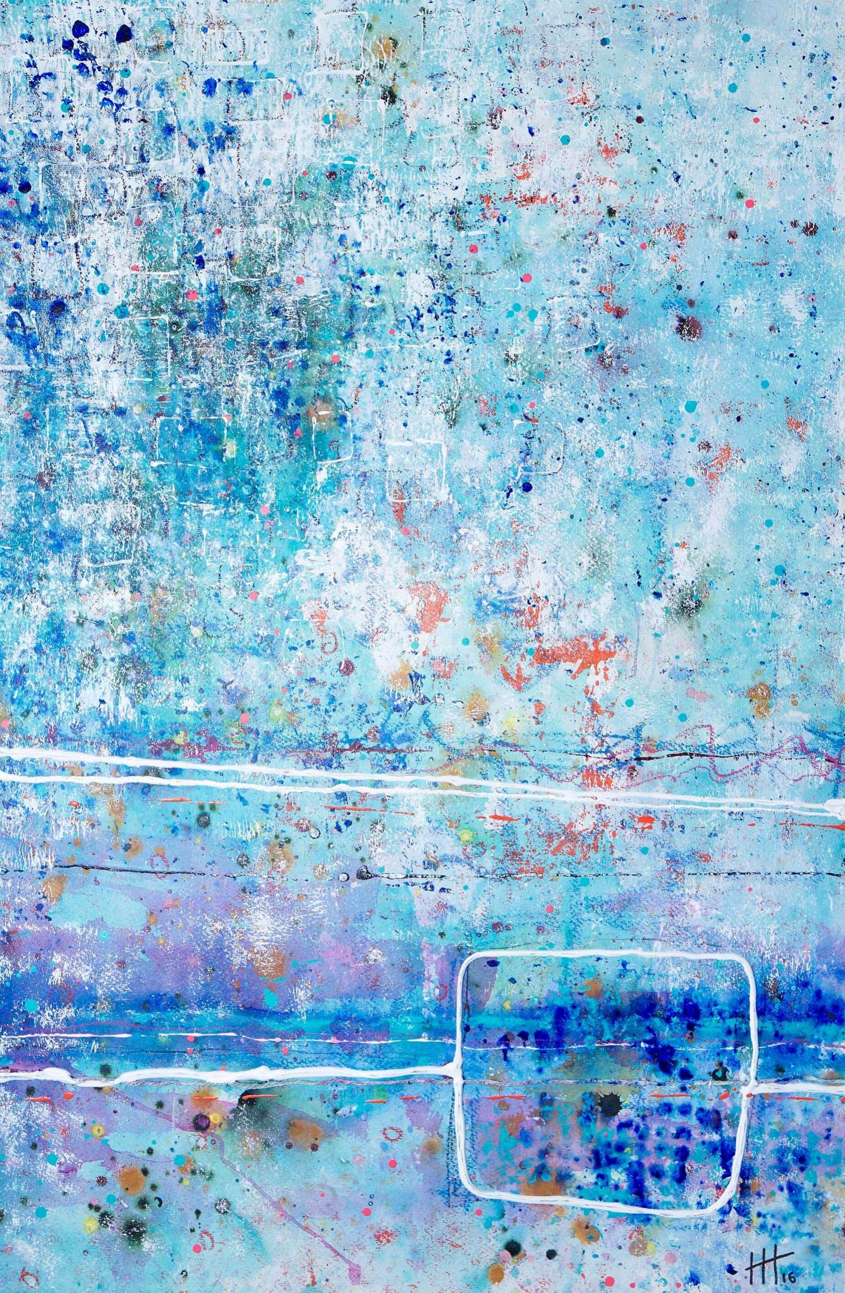 'For Charlotte' Acrylic & Mixed Media /129cm x 93cm (framed) SOLD