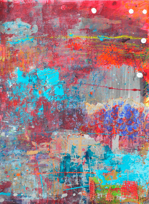 'Second One' Acrylic &Mixed Media / 78cm x 60cm (framed) SOLD