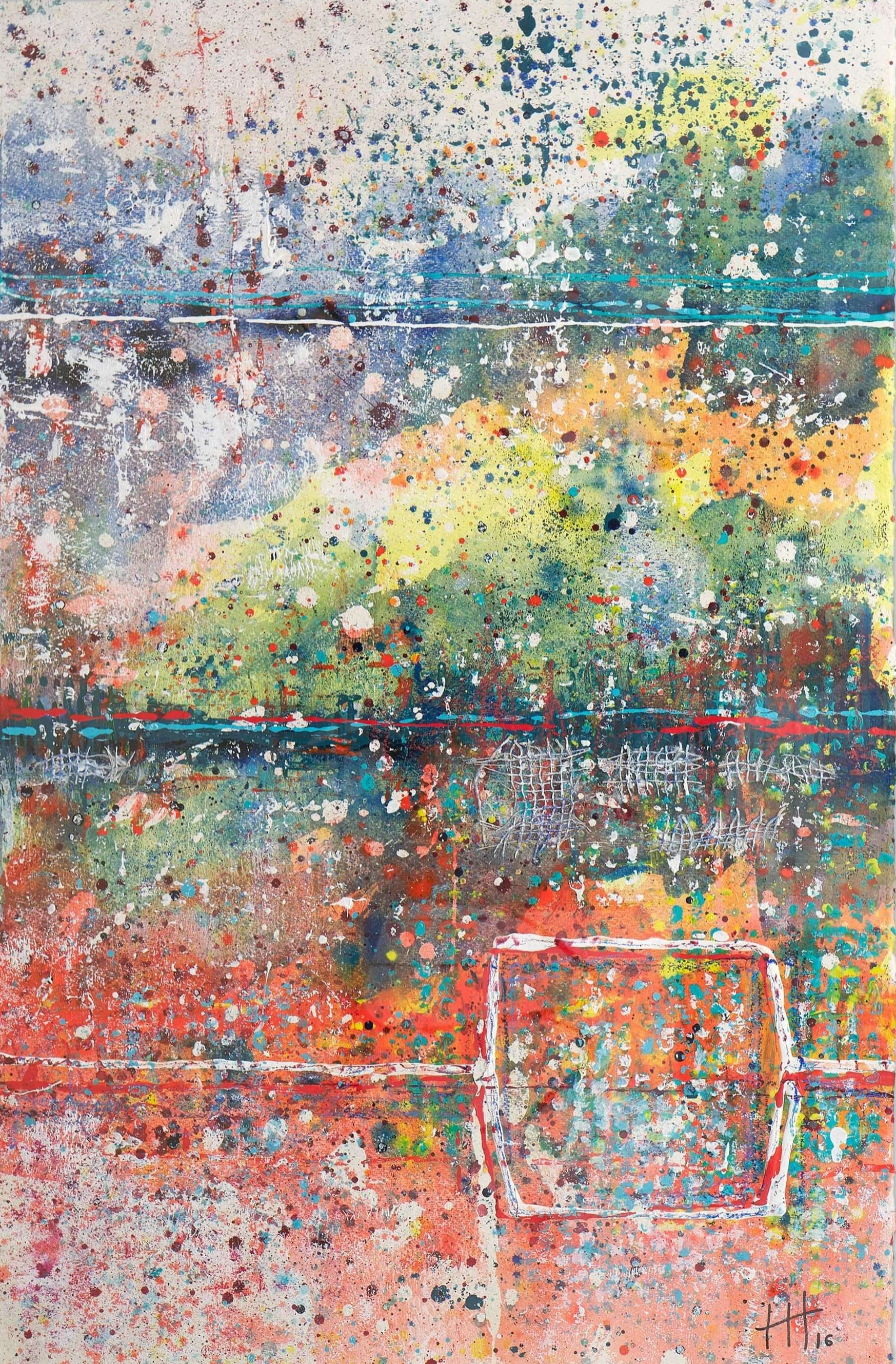 'Untitled' Acrylic & Mixed Media / 129cm x 93cm (framed) SOLD