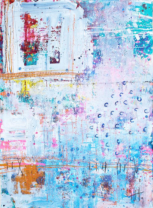 'Untitled'   Acrylic +mixed media /   117cm x 93cm (framed)   SOLD