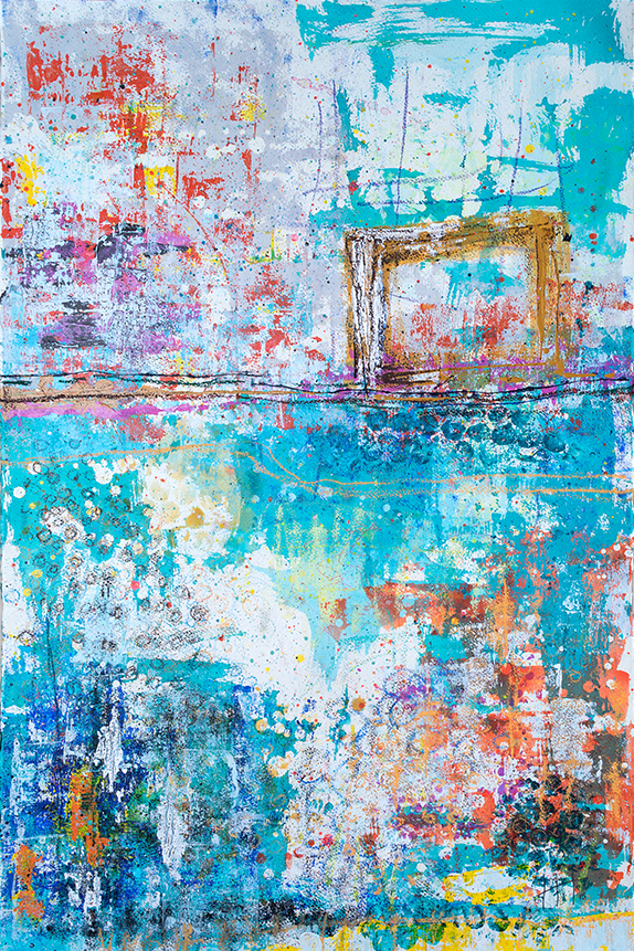 'Along The River'   Acrylic / 129cm x 93cm  (framed)   SOLD