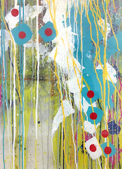 'Turning Point' Acrylic /98cm x 76cm (framed) SOLD