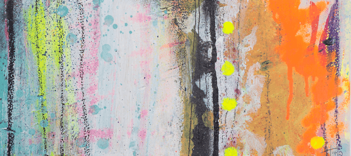 'Scaffolding' Acrylic /35cm x 48cm (framed) SOLD