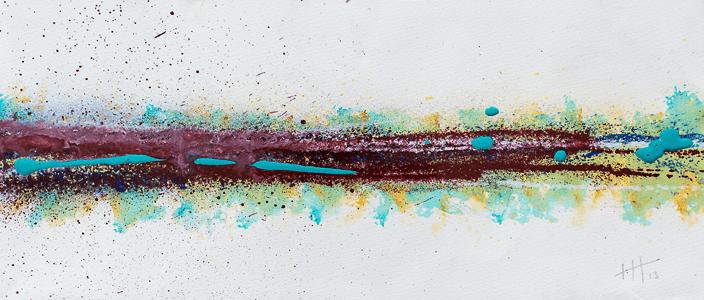 'Lines 2  '   Acrylic /  18cm x 40cm SOLD
