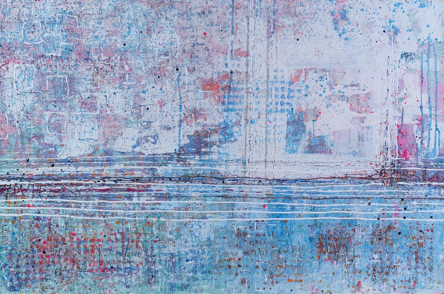 'A Walk With Erica' Acrylic & Mixed Media /93cm x 129cm (framed) SOLD