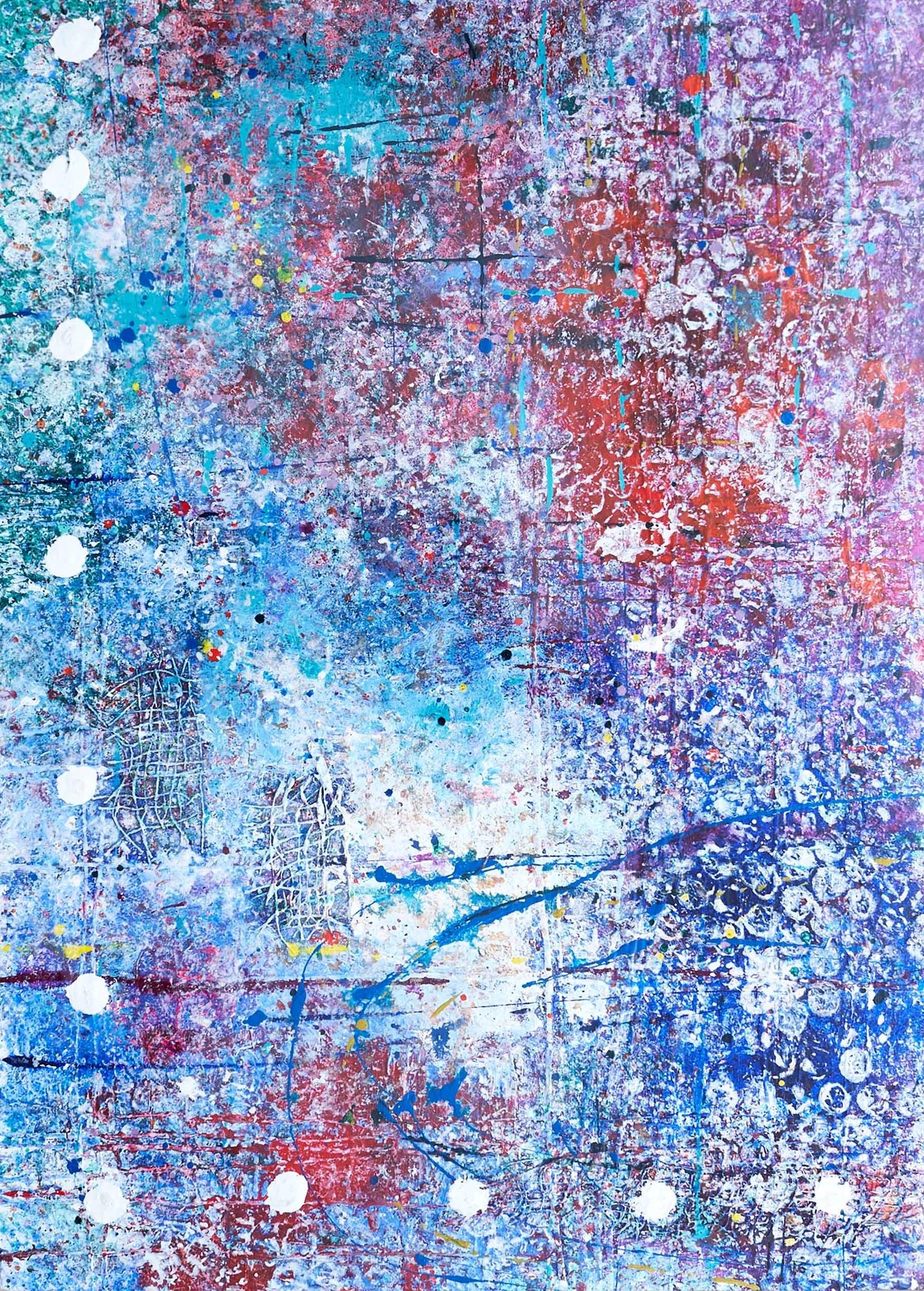 'Untitled' Acrylic & Mixed Media /100cm x 93cm (framed) SOLD
