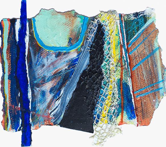'Porthminster (1)' Acrylic /42cm x 47cm (framed) SOLD