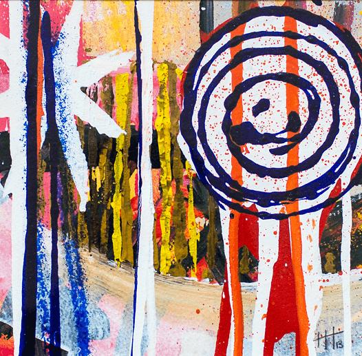 'Praa Sands' Acrylic / pastel /42cm x 42cm (framed) SOLD