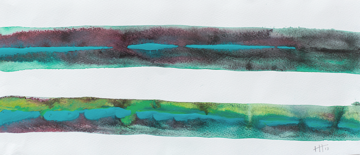 'Lines #3'   Acrylic /  18cm x 40cm SOLD