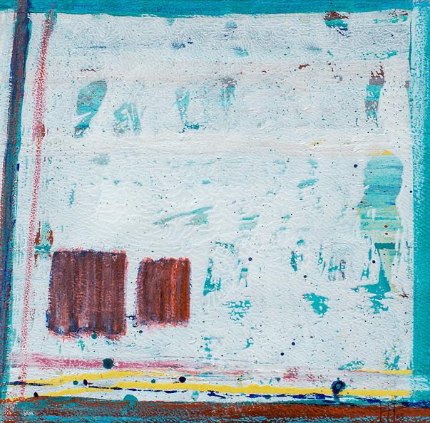 'Porthcurno' Acrylic /52cm x 52cm (framed) SOLD