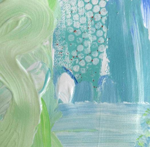 'Beside The Sea'   Acrylic /  41cm x 41cm (framed)   SOLD
