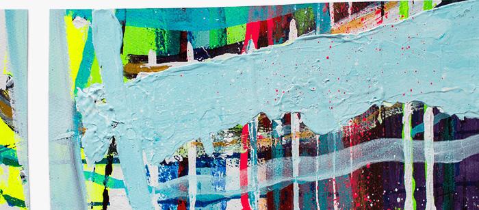 'Untitled#2' Acrylic /35cm x 48cm (framed) SOLD