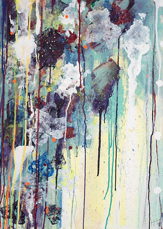'Garden Studio' Acrylic / 76cm x 58cm (framed) SOLD