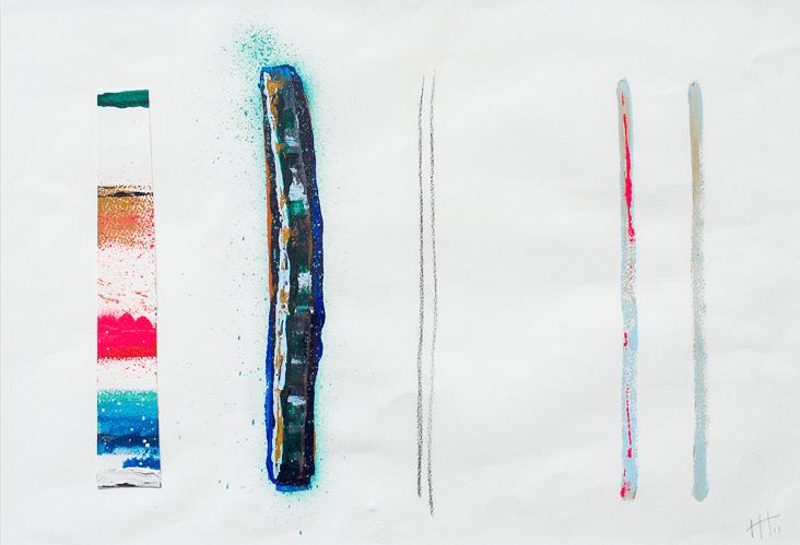 Lines #4 Acrylic / 72 cm x 90cm (framed) SOLD