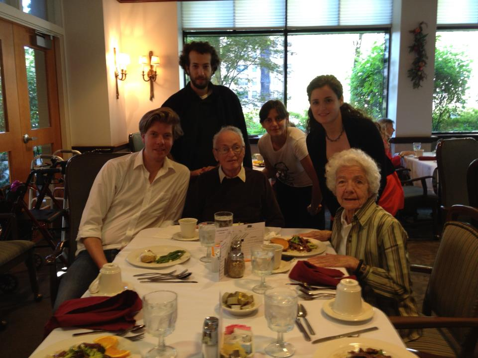 Dinner with Evi and Walter Levin