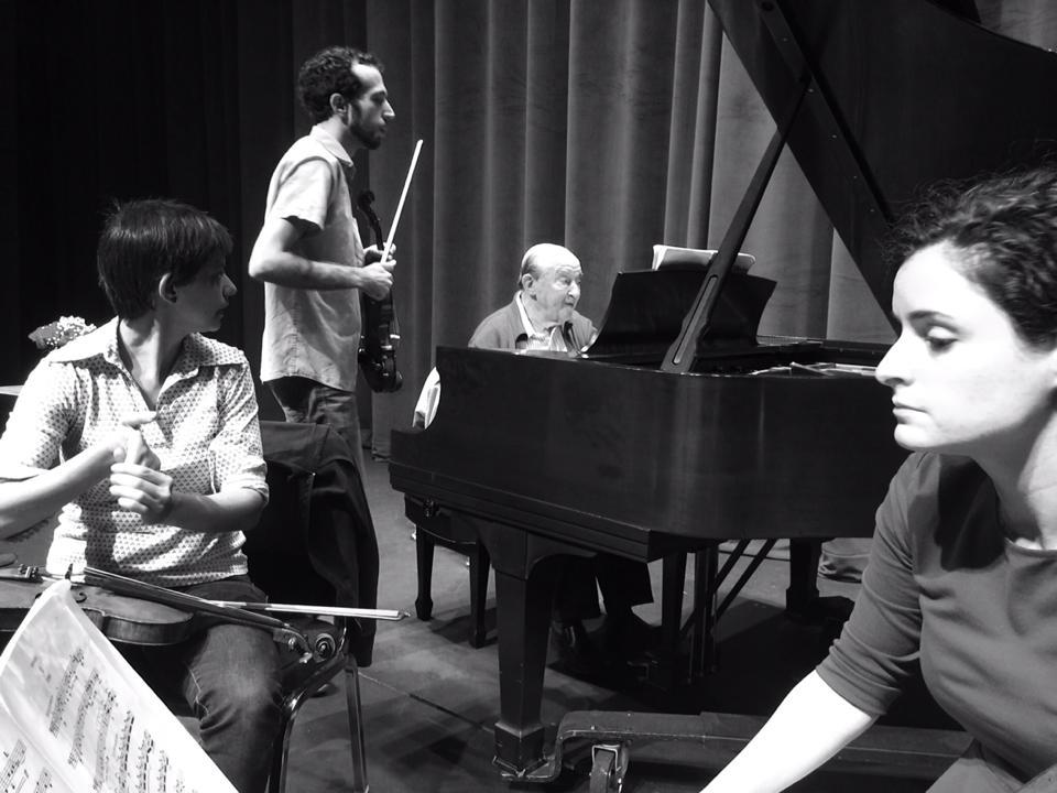 In rehearsal with Menahem Pressler