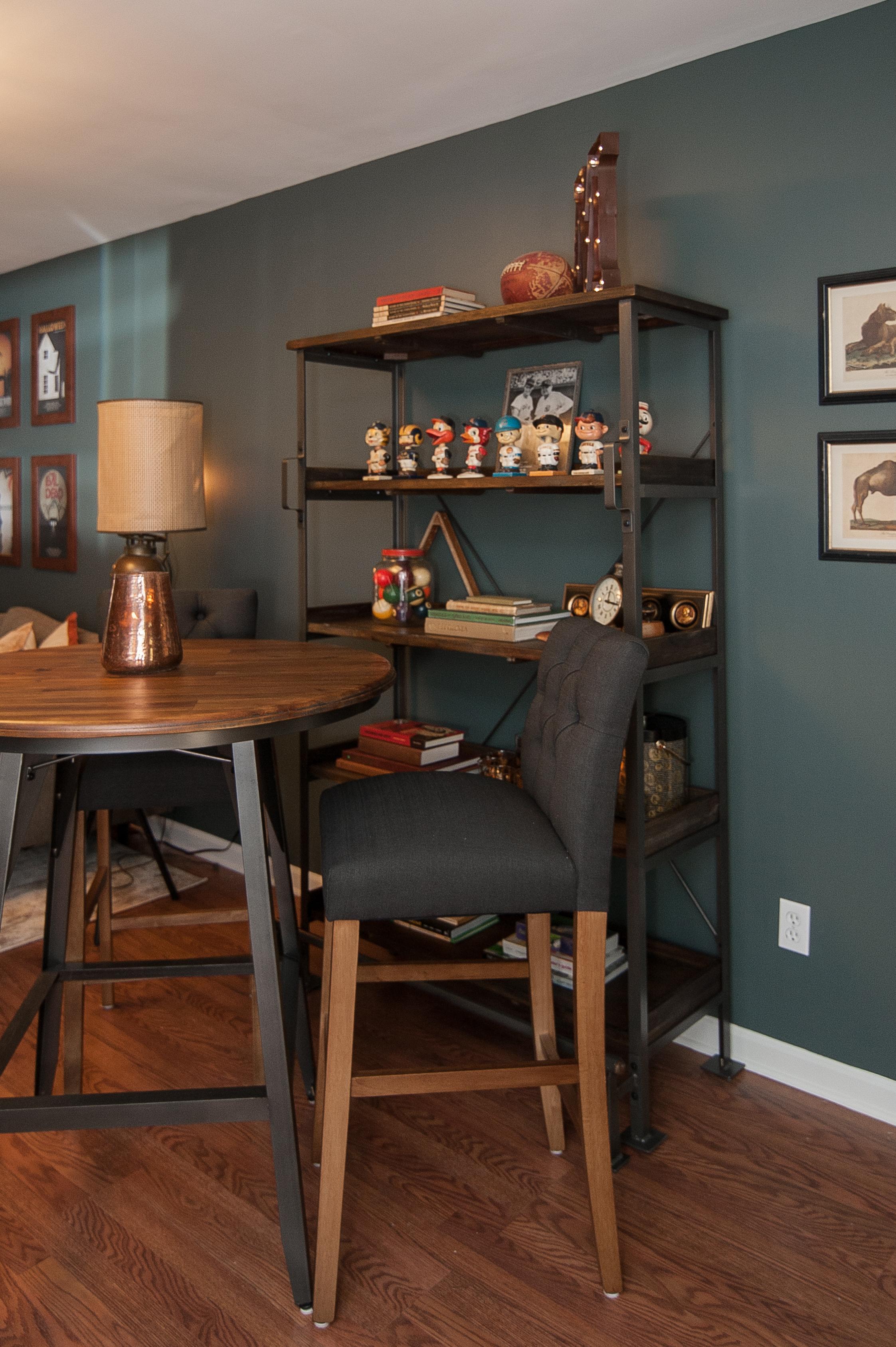 Artful Interiors - Bachelor Pad - Pub Table