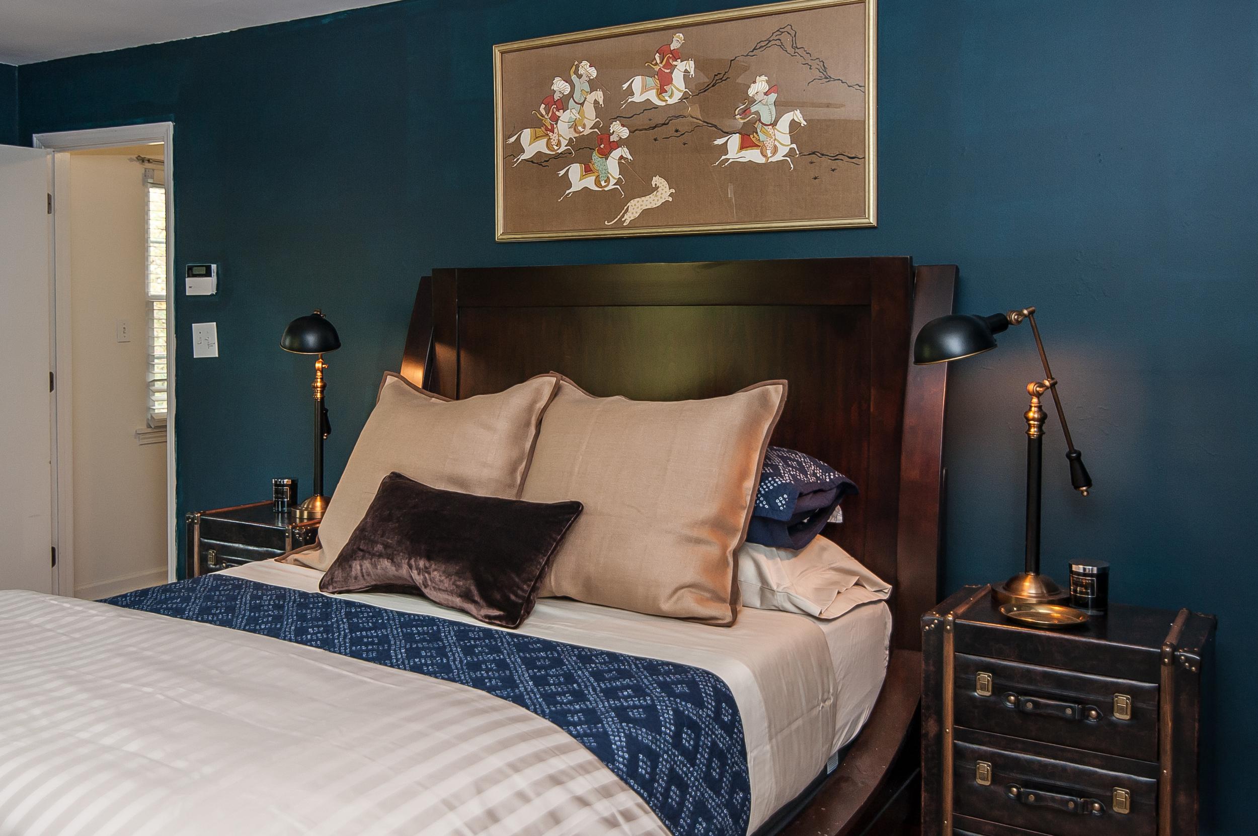 Artful Interiors - Bachelor Pad - Master Bedroom