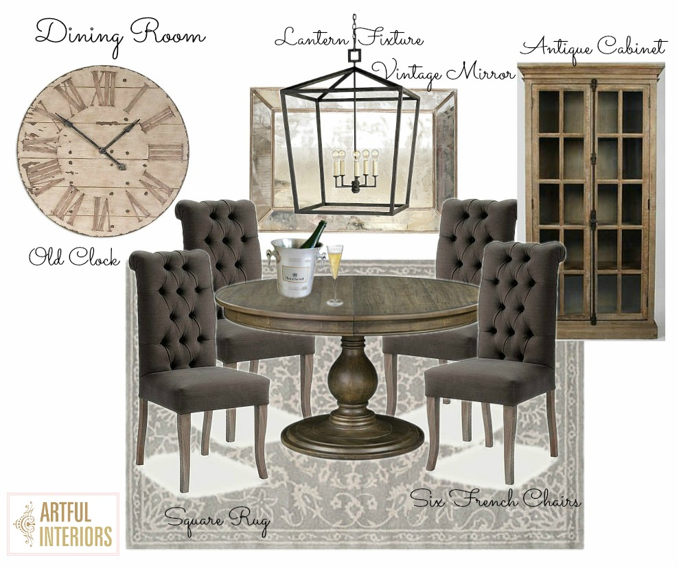 Artful Interiors - Bachelor Pad - Dining Room - Design Board