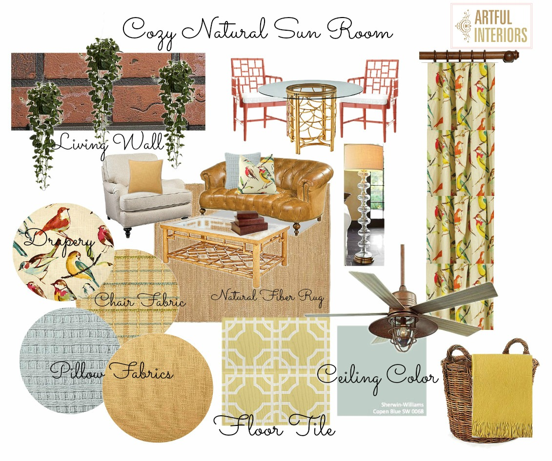 Artful Interiors – Sun Room - Design Board