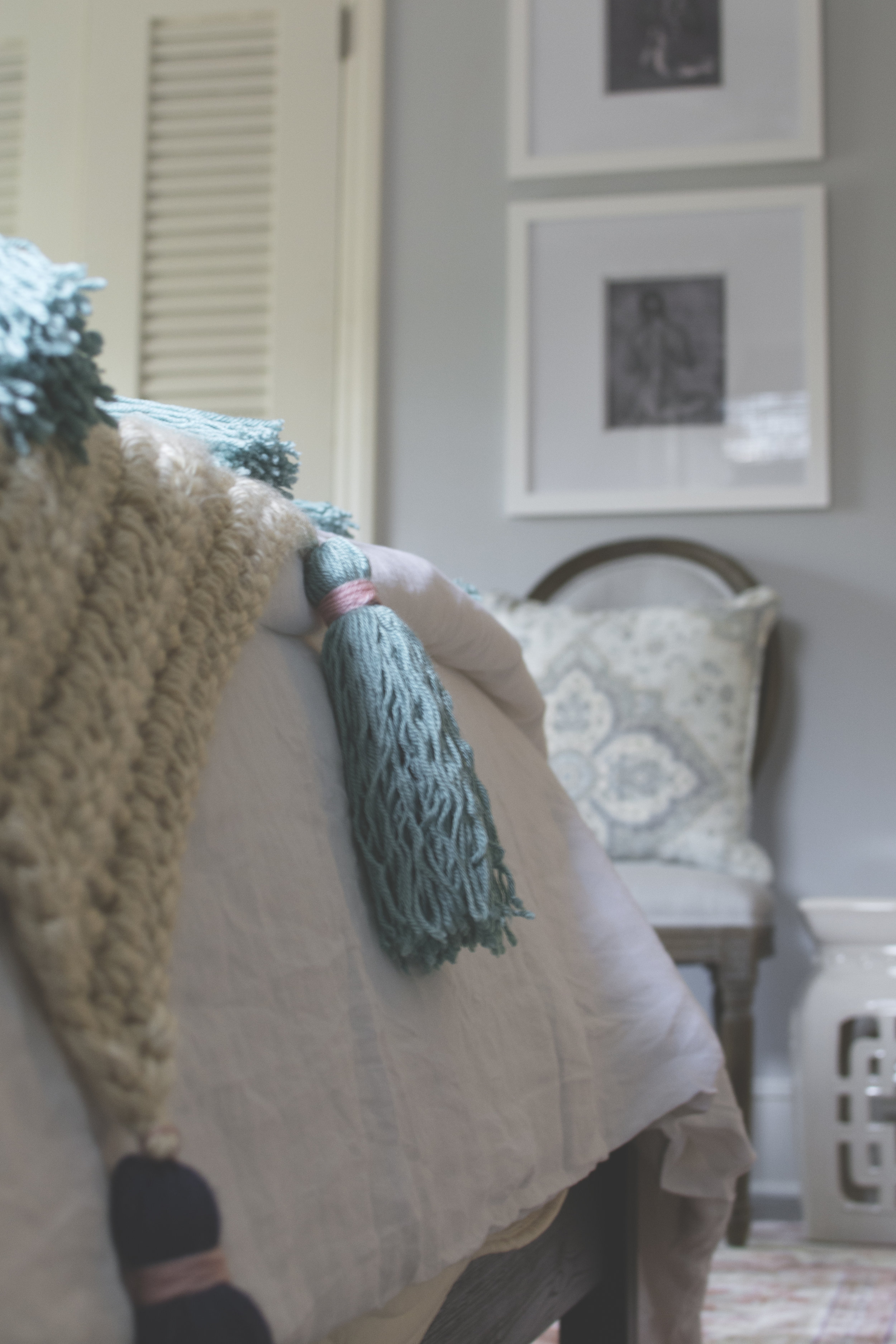 Artful Interiors - Bohemian Bedroom - Blanket Detail