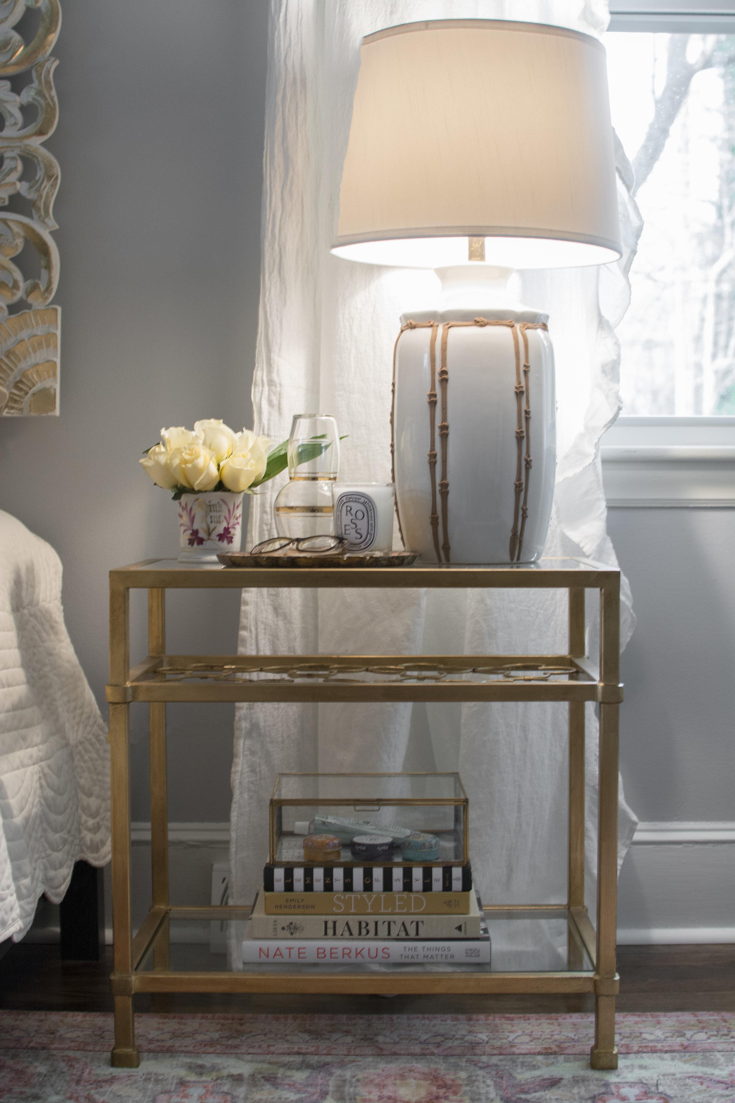 Artful Interiors - Bohemian Bedroom - Nightstand Detail