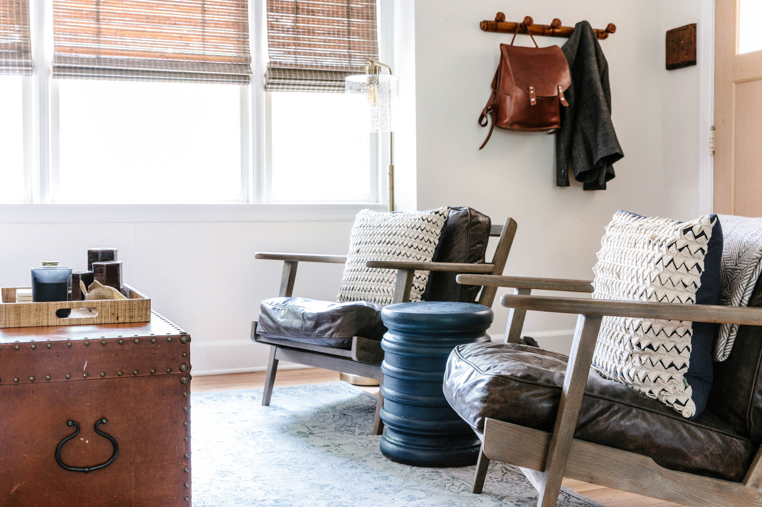 Bachelor Pad Leather Chairs
