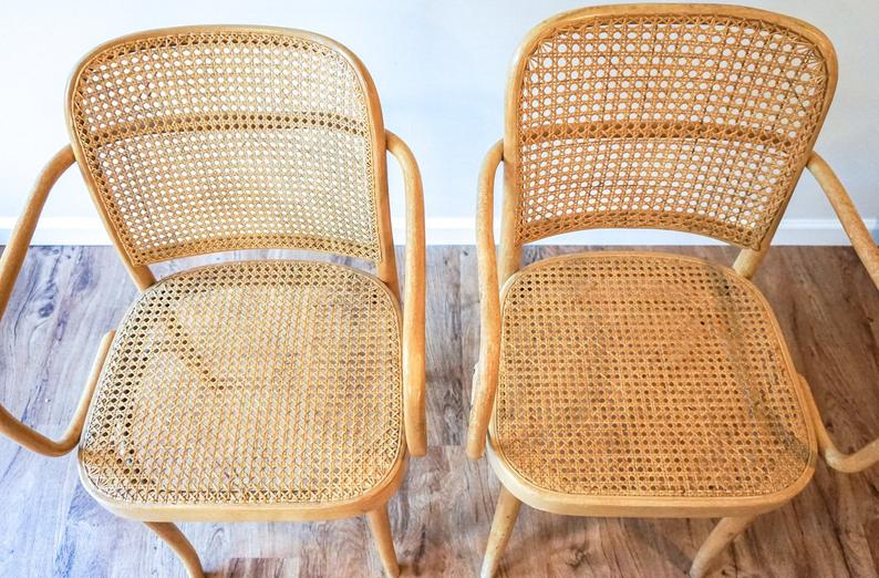 Etsy Vintage Cane Chairs