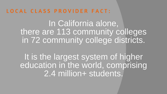 Local Class Provider Fact - California Community Colleges