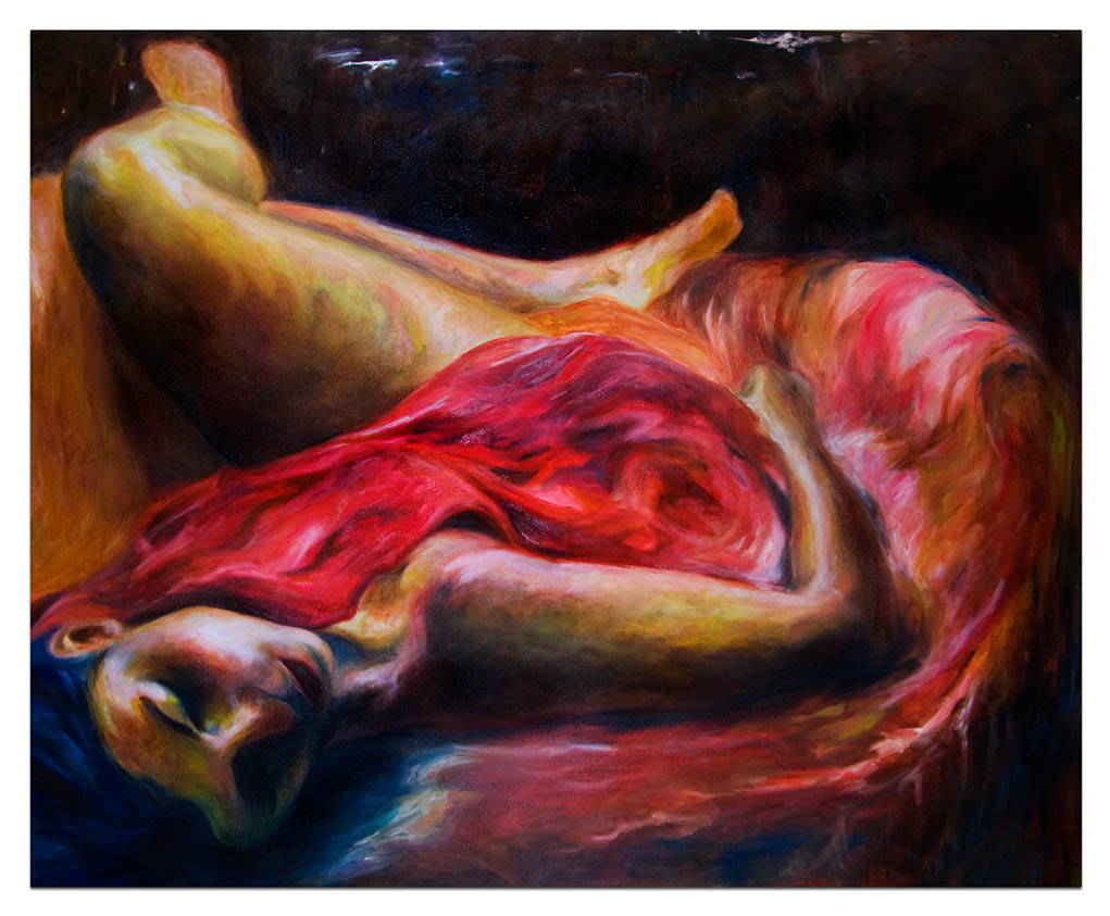 Red Violin - Oil on Canvas, Sold