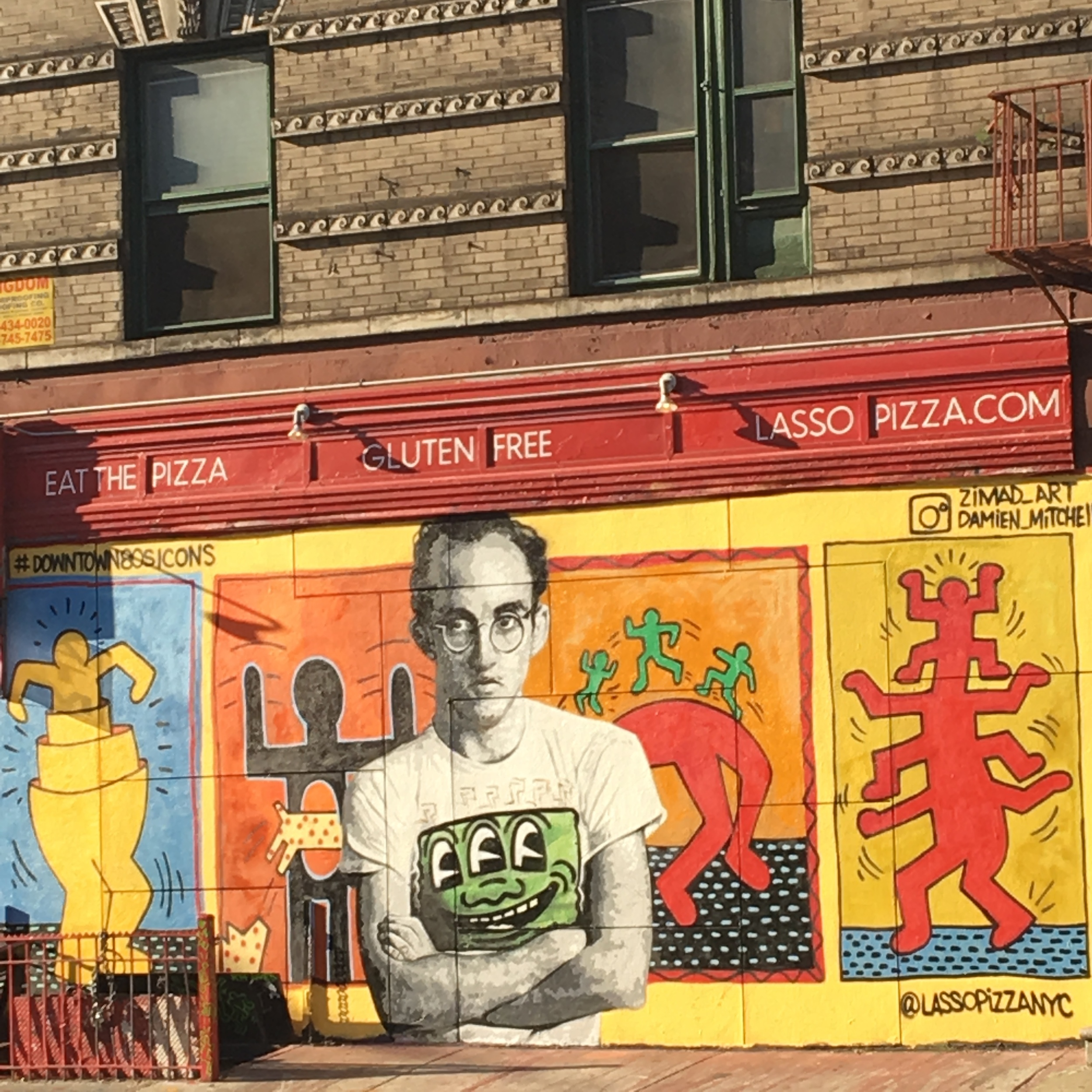 A tribute mural of Keith Haring