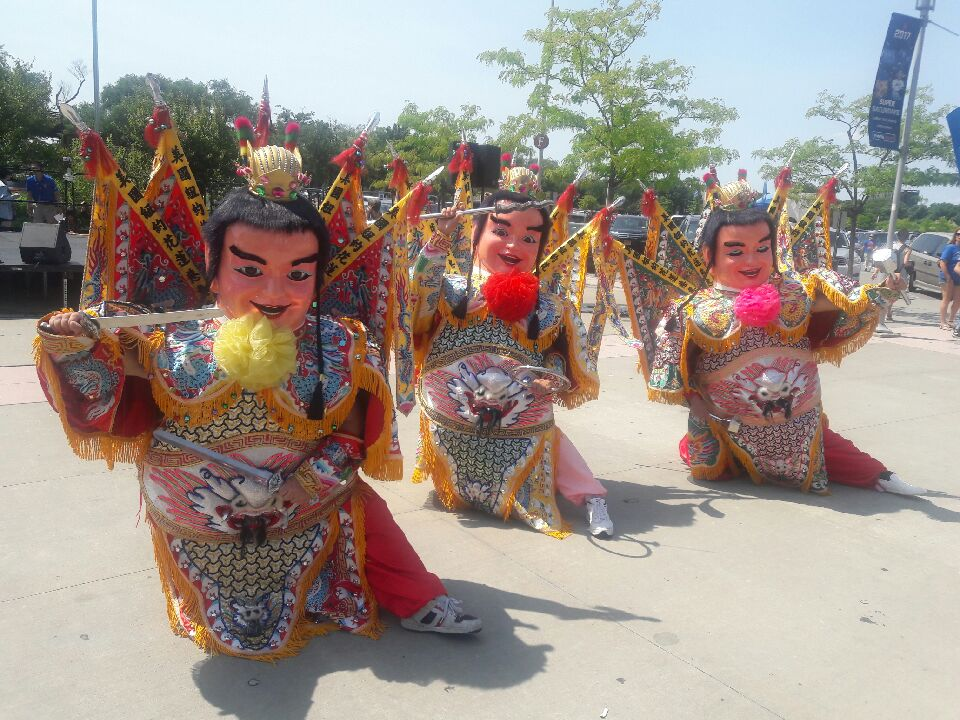 """The Third Prince is a Taiwanese Taoist deity often seen at temple festivals and street parades in Taiwan. This religious folk icon has been reimagined and popularized as the """"Techno-Dancing Third Prince."""" The first major international appearance of the """"Techno-Dancing Third Prince"""" was probably at the 2009 World Games in Kaohsiung."""