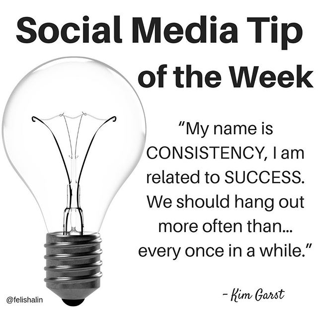 """""""MynameisCONSISTENCY,Iamrelatedto SUCCESS.Weshouldhangoutmoreoftenthan… every onceinawhile."""" A quote from Kim Garst, an international best selling author, international keynote speaker, one of the world's most retweeted people among digital marketers and a highly sought after marketing strategist.  When it comes to social media consistency is so key. While I believe that social media has empowered so many people- creators, business owners, thought leaders- by giving them the opportunity to build a platform and reach their target audience, it takes consistency to build brand awareness, to attract customers and clients, and for your message to reach those who need and resonate with it.  @kimgarst is also internationally recognized as a thought leader in the social media space. Forbes named her as one of the Top 10 Social Media Power Influencers. She has provided social and digital marketing advice to some of the world's top brands like Microsoft, IBM, and Mastercard as well and hundreds of influential business leaders on digital and social media business strategies.  She is the co-founder of Boom! Social, a business strategy consulting firm that helps business owners create more sales using the power of digital and social media. … #socialmediatip #smtipoftheweek #smtipoftheday #authorpreneurs ✍🏻💡#solopreneurs #instagramforbusiness #instagrammarketing #socialmediaagency #socialmediaexperts #socialmediaconsultant #socialmediahelp #instagramstrategy #socialmediacoach #instagramexpert #instagramexperts #instagramtips #instagramtipsforbusiness #instagramtipsandtricks #instagramtip #instagrammarketingtips #socialmediaspeaker #marketinghelp #marketingadvice #marketingquotes #socialmedianews #socialmediaservices #socialmediaday #socialmedialife #socialmediafacts"""
