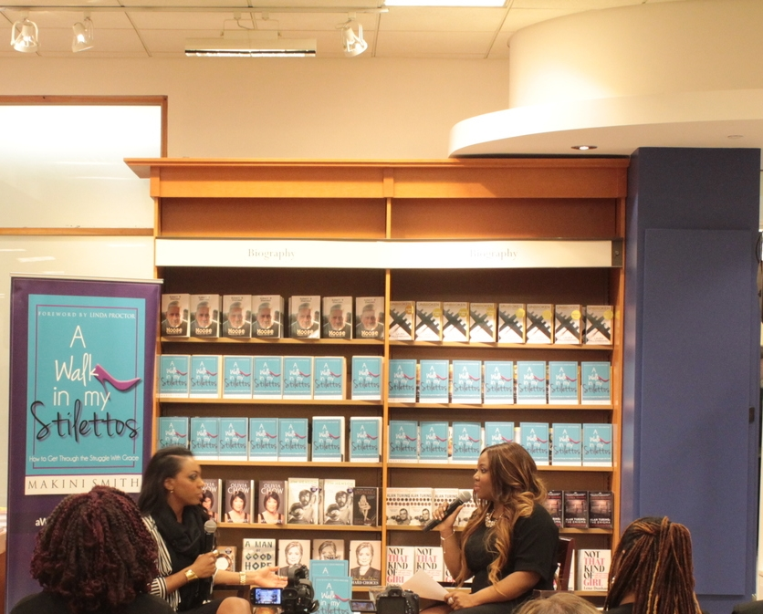 Makini Smith, author of A Walk In My Stilettos, being interviewed by Janét, March 3, 2015