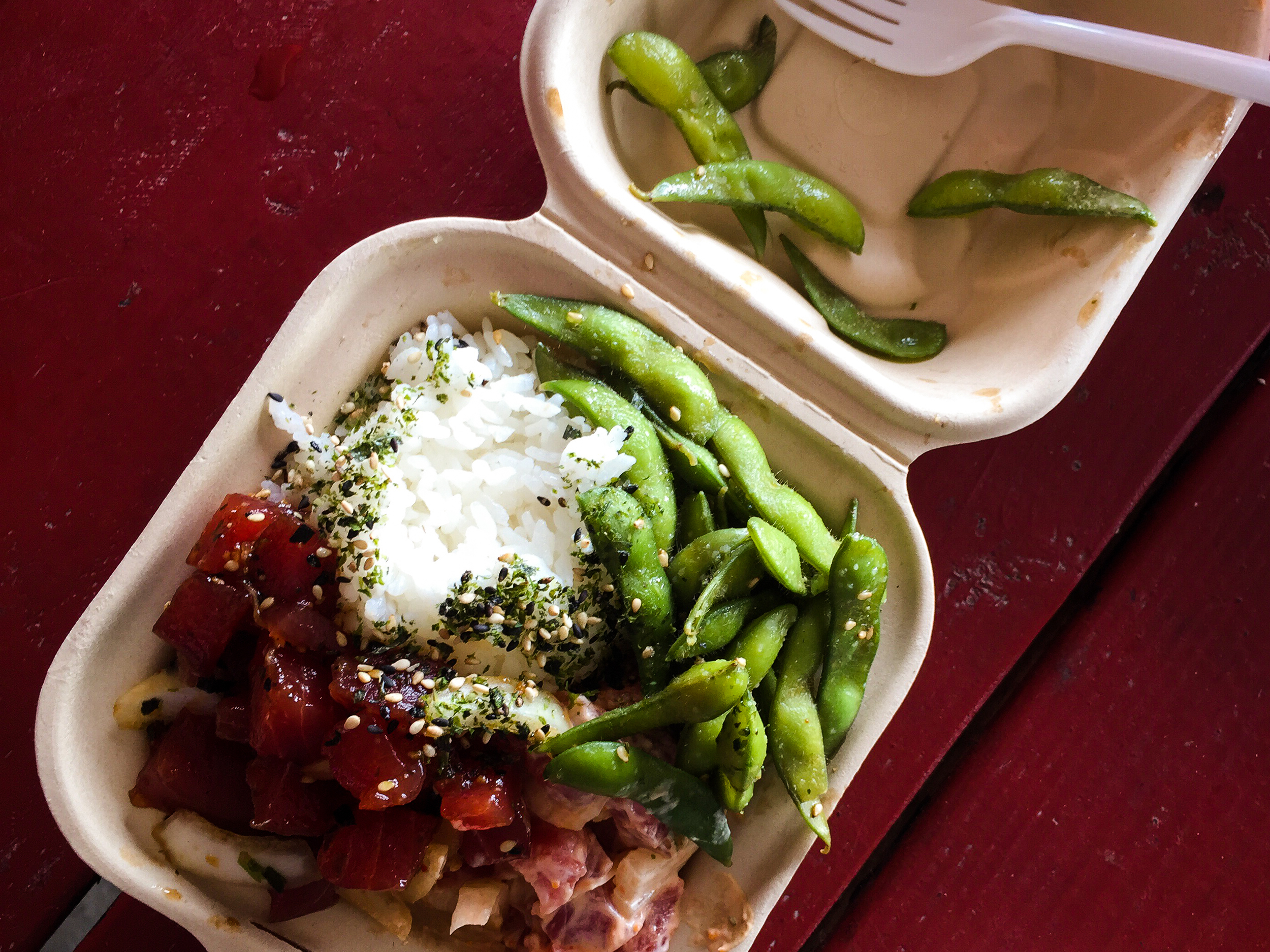 Poke feast at Da Poke Shack's new Captain Cook location