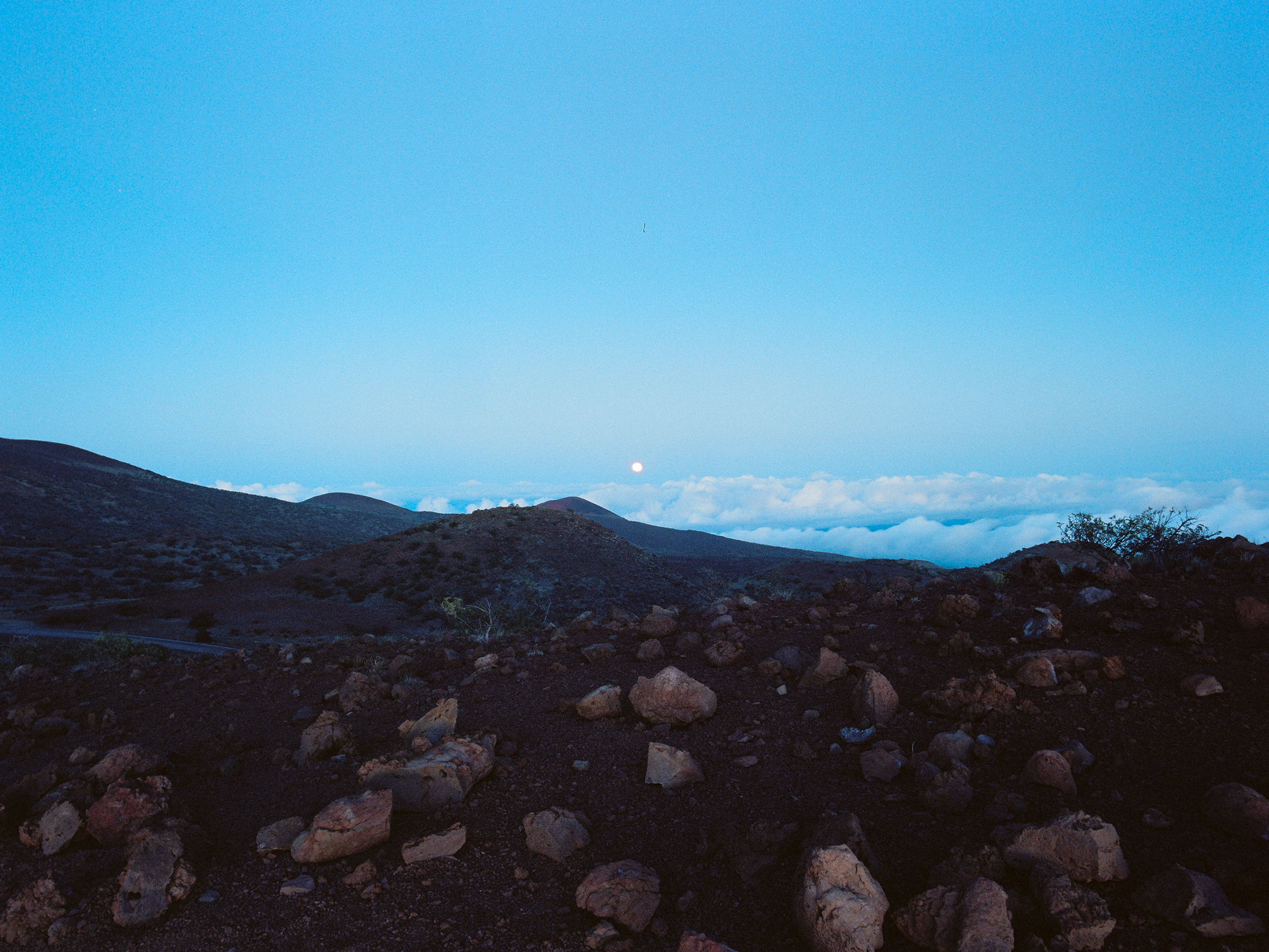 Moonrise at Mauna Kea